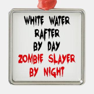 White Water Rafter Zombie Joke Metal Ornament