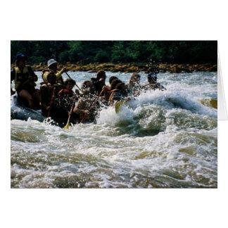 White Water Rafting Card