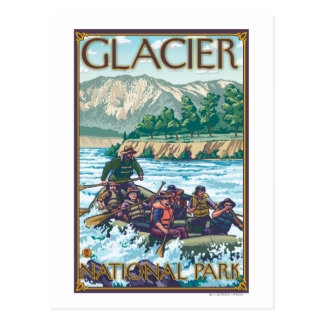 White Water Rafting - Glacier National Park, MT Postcard