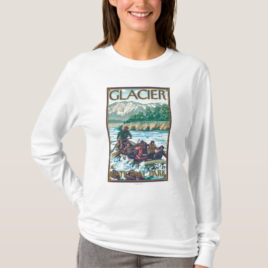 White Water Rafting - Glacier National Park, MT T-Shirt