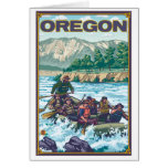 White Water Rafting - Oregon Stationery Note Card