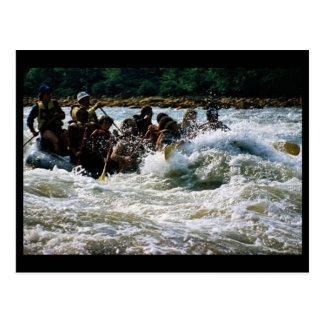 White Water Rafting Postcard