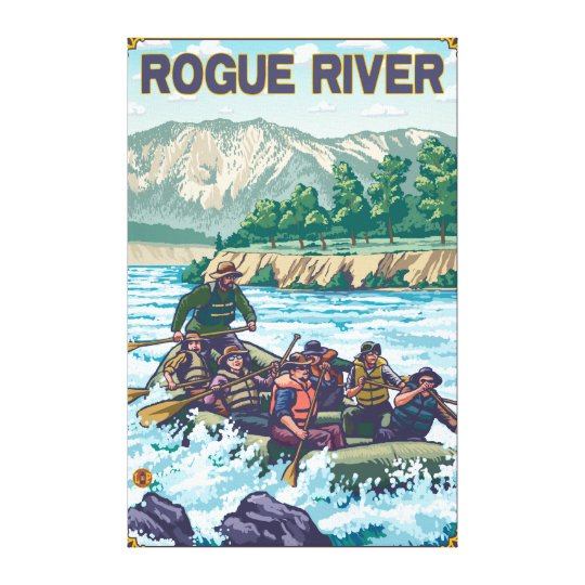 White Water Rafting - Rogue River, Oregon Canvas Print