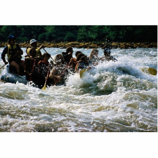White Water Rafting Standing Photo Sculpture