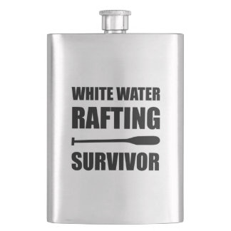 White Water Rafting Survivor Funny Flask