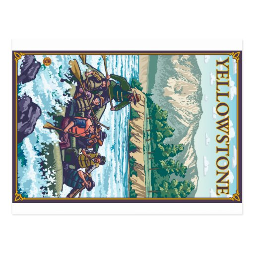 White Water Rafting - Yellowstone National Park Post Cards