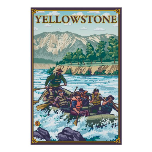 White Water Rafting - Yellowstone National Park Poster