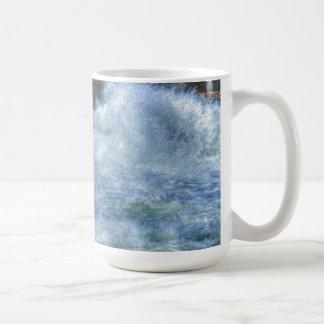 White Water Rushing River Nature Scene Coffee Mug