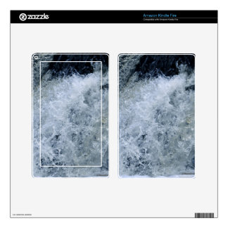 White Water Splash Nature Photography Skin For Kindle Fire