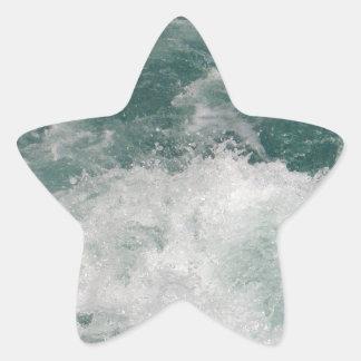 White Water Star Sticker