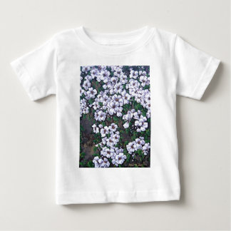 white waterfall floral baby T-Shirt