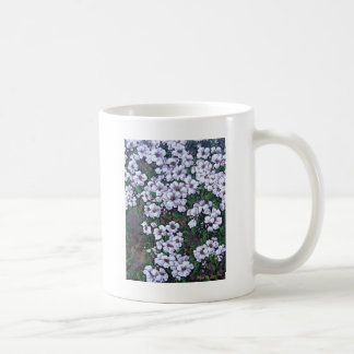 white waterfall floral coffee mug