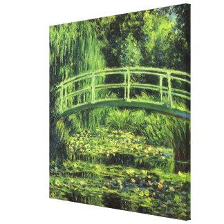 White Waterlilies by Claude Monet, Vintage Art Canvas Print