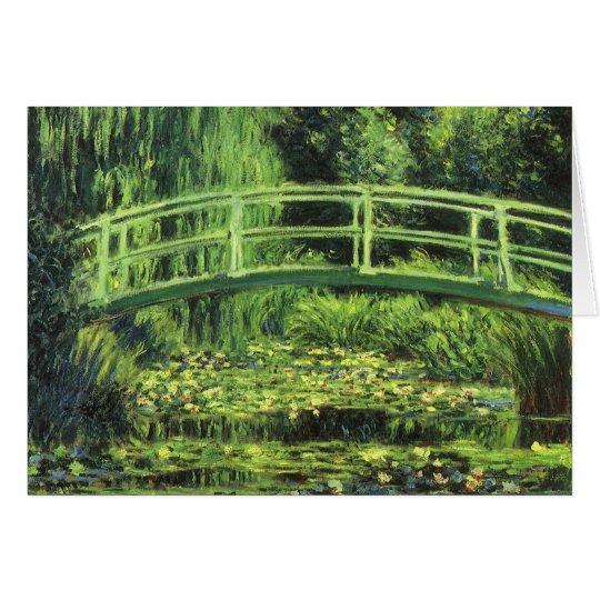 White Waterlilies by Claude Monet, Vintage Art Card