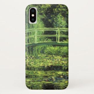 White Waterlilies by Claude Monet, Vintage Art iPhone X Case