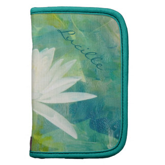 White Waterlily Blossom Planners