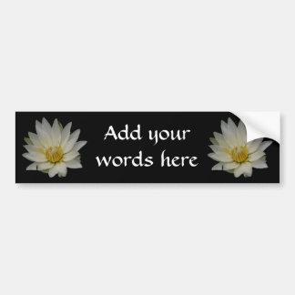 White Waterlily Bumper Sticker