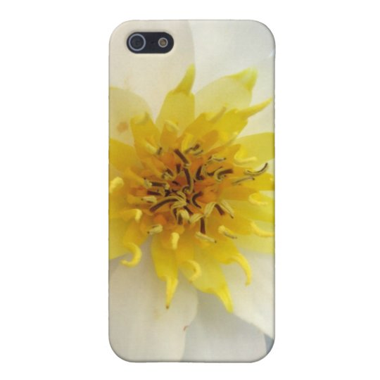 White Waterlily iPhone SE/5/5s Case