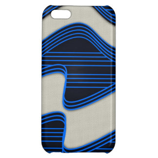 White Wave Fabric Blue Neon lines Image Print iPhone 5C Covers
