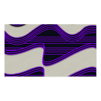 White Wave Fabric Purple Neon lines Image Print Double-Sided Standard Business Cards (Pack Of 100)