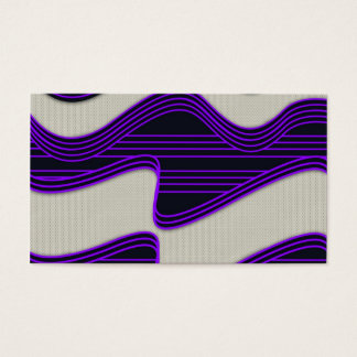 White Wave Fabric Purple Neon lines Image Print Business Card