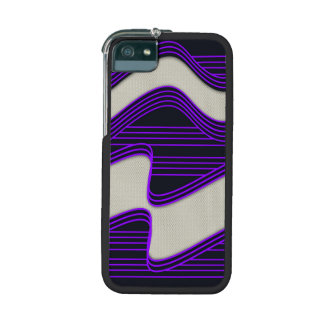 White Wave Fabric Purple Neon lines Image Print iPhone 5/5S Cover
