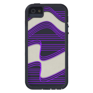 White Wave Fabric Purple Neon lines Image Print iPhone 5 Covers