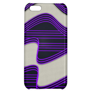 White Wave Fabric Purple Neon lines Image Print iPhone 5C Case