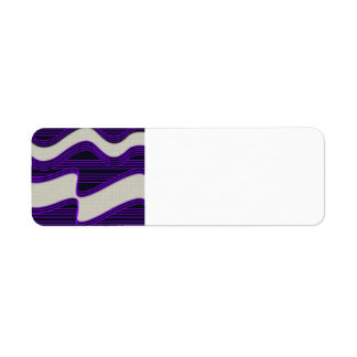 White Wave Fabric Purple Neon lines Image Print Label