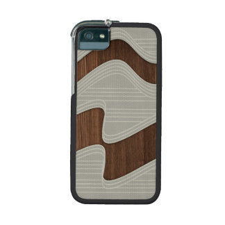 White Wave fabric vintage wood lines Image Print iPhone 5 Cover