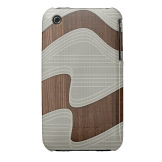 White Wave fabric vintage wood lines Image Print iPhone 3 Case-Mate Cases