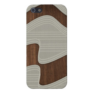 White Wave fabric vintage wood lines Image Print iPhone 5 Covers