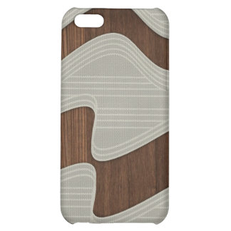 White Wave fabric vintage wood lines Image Print iPhone 5C Covers