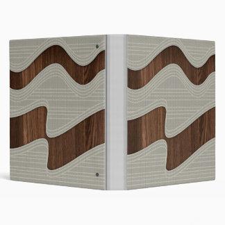 White Wave fabric vintage wood lines Image Printt Binder