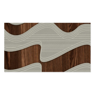 White Wave fabric vintage wood lines Image Printt Business Card Template