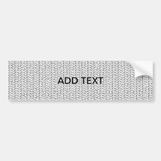 White Weave Mesh Look Car Bumper Sticker