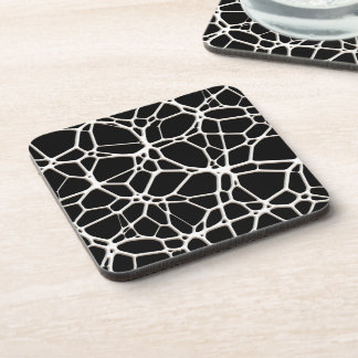 White Web Texture + your bachgr. & ideas Drink Coasters