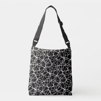 White Web Texture + your bachgr. & ideas Crossbody Bag