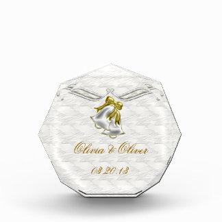 White Wedding Acrylic Award