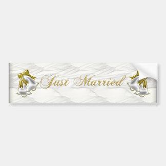 White Wedding Bumper Sticker