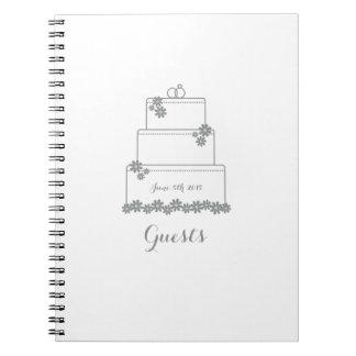 White Wedding Cake Guest Book