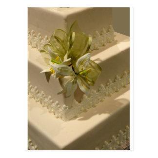 White Wedding Cake Postcard