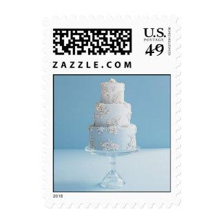 White Wedding Cake Small Postage