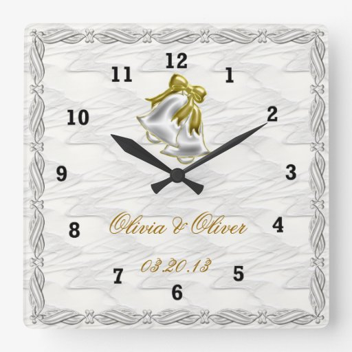 White Wedding Clocks