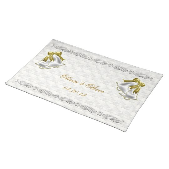 White Wedding Cloth Placemat