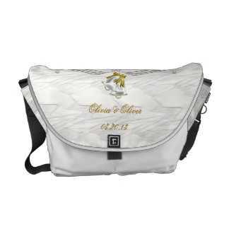 White Wedding Courier Bags