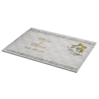 White Wedding Cutting Board