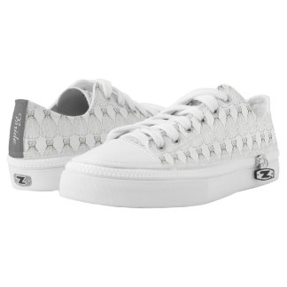 White Wedding Dress BRIDE Bridal Shower Gown Low-Top Sneakers