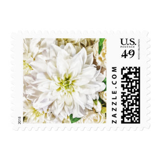 White Wedding Floral Bridal Bouquet Postage