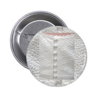 White Wedding Gown Button - Customizable Pins